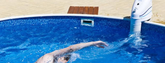 Jetstream zwembad zwemspa for Groot opzetzwembad