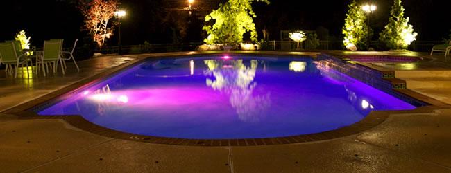 Zwembadverlichting for Prijzen zwembaden geplaatst